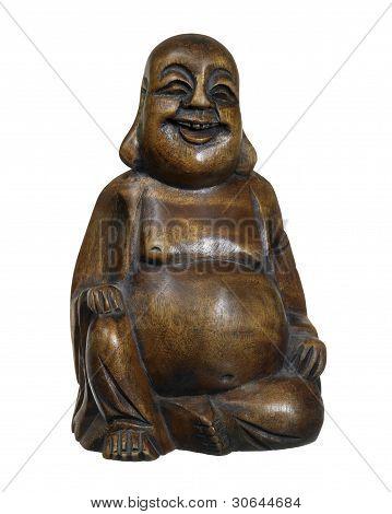 Dark Wooden Buddha