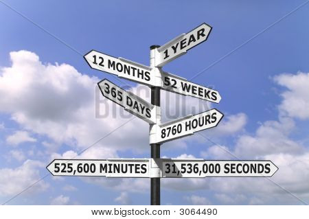 1 Year Signpost