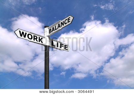 Cartel de equilibrio vida trabajo