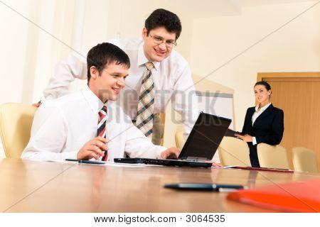Empresarios en el trabajo