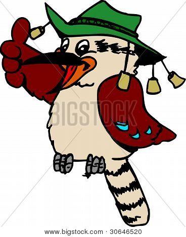 Cartoon Aussie Kookaburra
