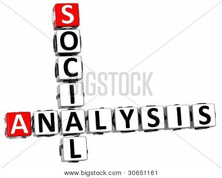 3D Legal Social Analysis Crossword Cube Words