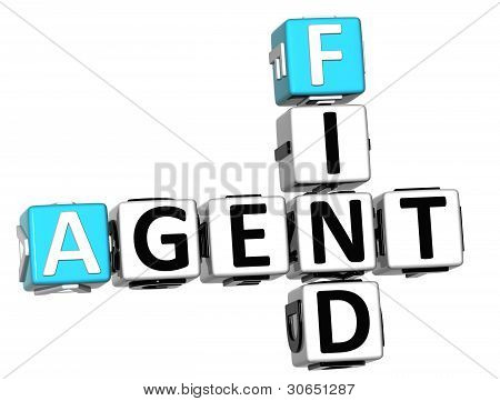 3D Agent Find Crossword Cube Words