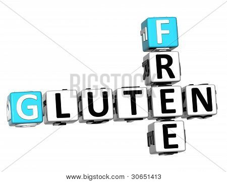 3D Gluten Free Crossword Cube Words