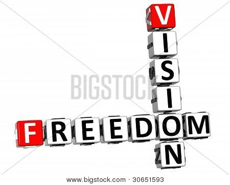 3D Freedom Future Vision Crossword Cube Words