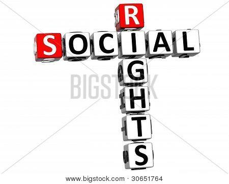 3D Social Rights Crossword Cube Words