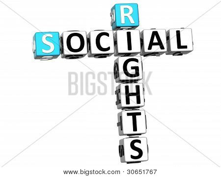 3D Social Rights Crossword Cube Words