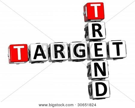3D Trend Target Crossword Cube Words