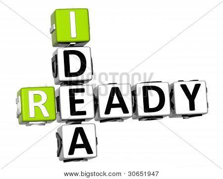 3D Open Ready Idea Crossword Cube Words