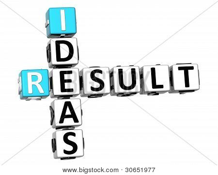 3D Result Ideas Crossword Cube Words