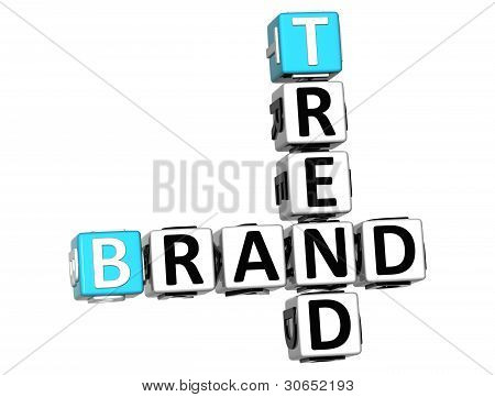 3D Share Brand Trend Crossword Cube Words