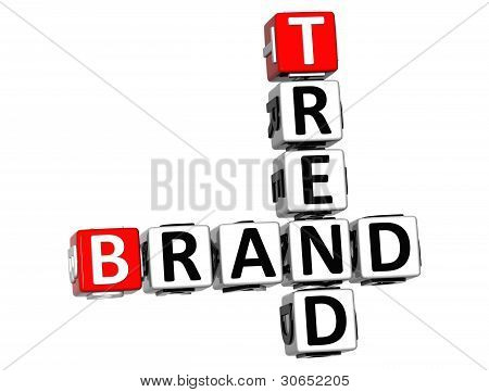 3D Share Brand Trend Crossword Cube Words