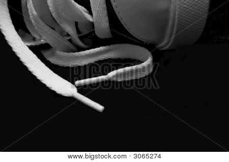 Close Up Of White Shoelaces