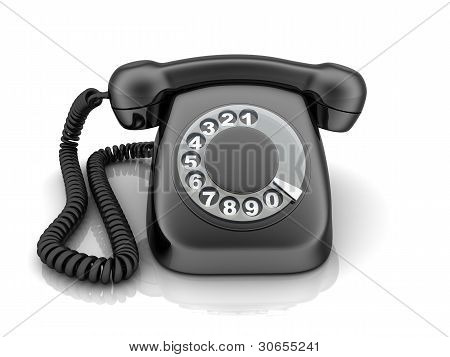 Telephone Black, View Front