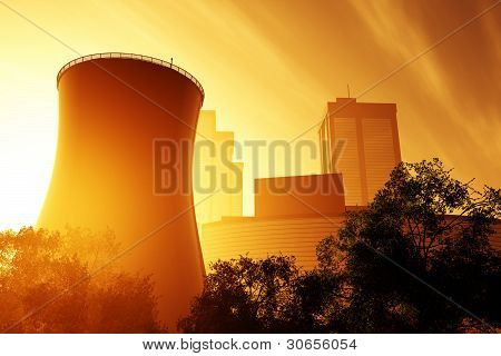 Nuclear Power Plant 3D render