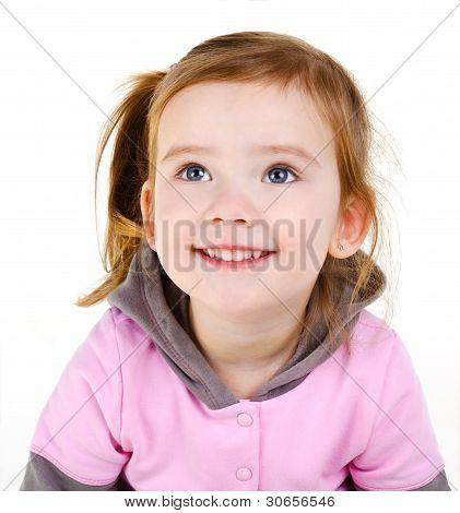 Portrait Of Happy Smiling Little Girl