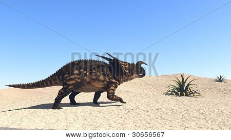einiosaur in desert