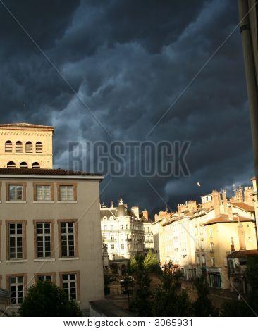 Morning Stormy Sky In Grenoble