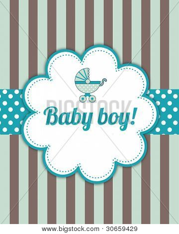 Placa de chegada do bebê menino