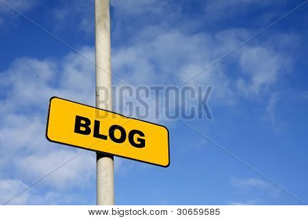 Yellow Blog Sign