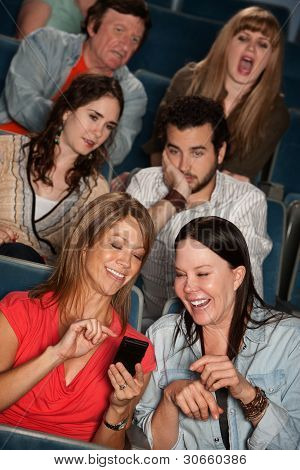 Bothered Audience In Theater