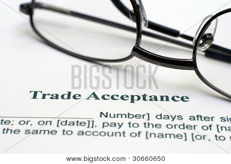 Trade Acceptance Form