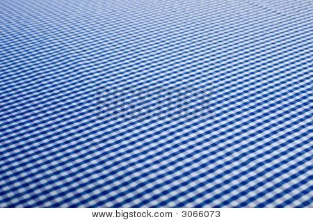 Blue Gingham Background