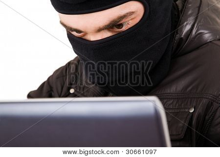 Computer Hacker, isolated over white background