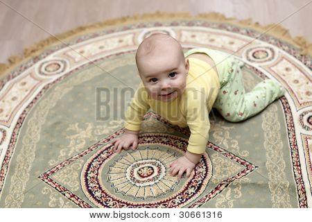 Baby On Carpet