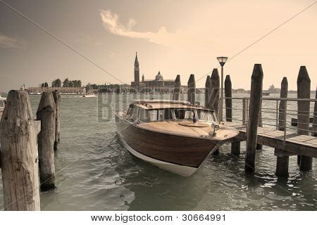 boat at the great channel near Piazza di San Marco, Venice