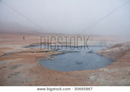 Mud And Steam Volcano Field In Iceland