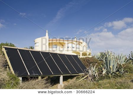 Villa with alternative energy sources - photocell board