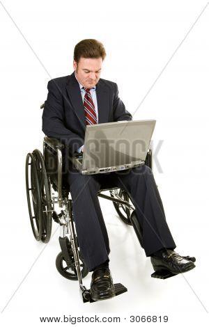 Disabled Businessman & Computer