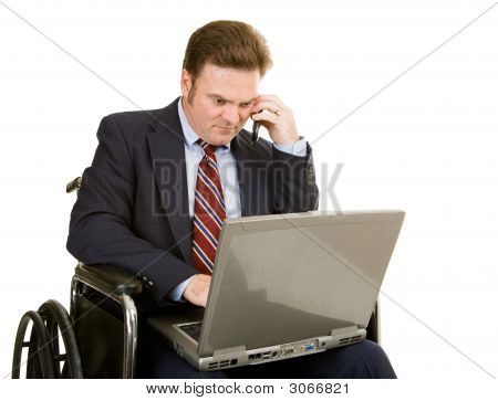 Disabled Businessman Connected