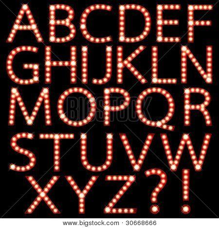 Conjunto de broadway bombilla Letras