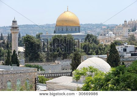Temple Mount, View From Walls Of Jerusalem.