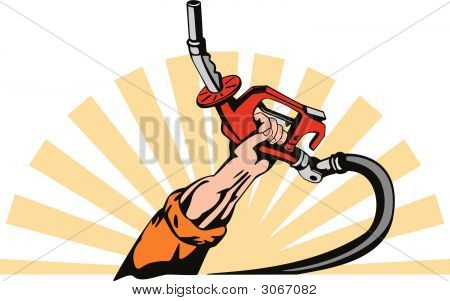 Hand With Gas Pump