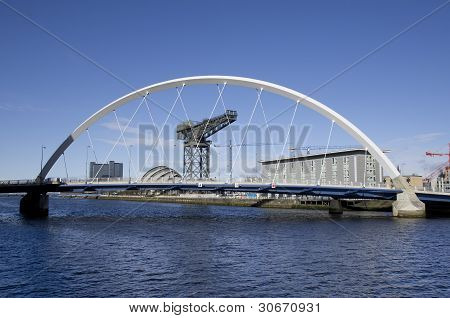 Glasgow Waterfront With Squinty Bridge