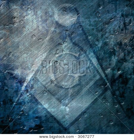 Grunge Background With Freemason Sign