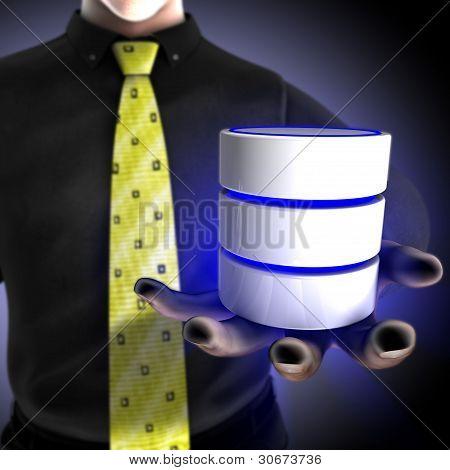 Kaufmann, die Bereitstellung einer Datenbank