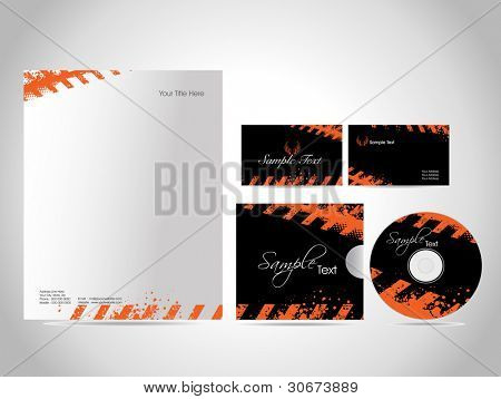 Professional Corporate Business Kit or Identity Kit, Vector Illustration, very easy to edit as per need.