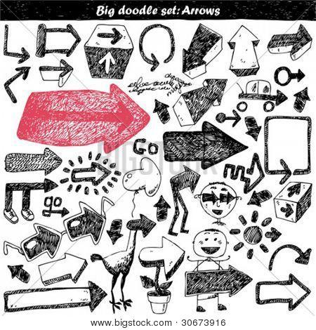 doodle set - doodles - arrows