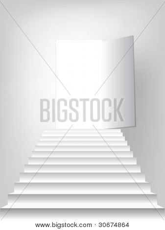 staircase to open door