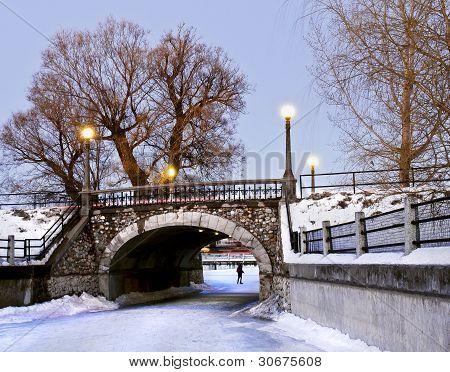 Winter Stone Bridge