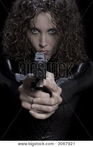 Vampiress With Gun