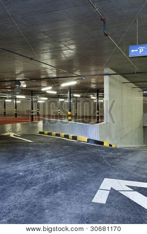 new underground parking, entry