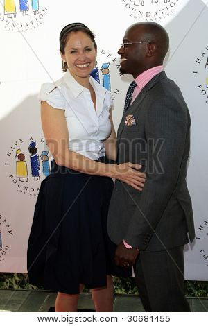 LOS ANGELES - MAR 4:  Amy Brenneman, Taye Diggs arrives at the  Have A Dream Foundation's 14th Annual Dreamers Brunch at the Skirball Cultural Center on March 4, 2012 in Los Angeles, CA
