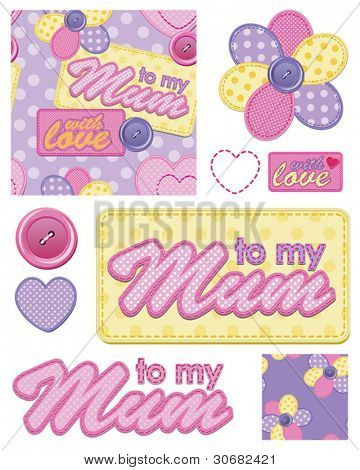 Great for Mothers Day - Seamless Repeat Patterns and Icons for Scrap booking, gift wrap or textile ideas.