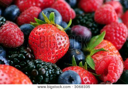 Una variedad de frutas frescas