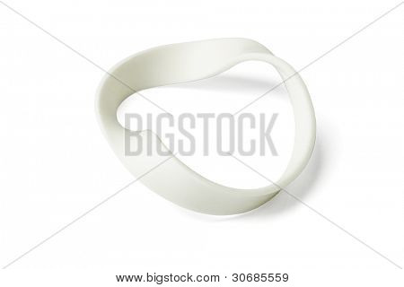 Twisted Wristband on Isolated White Background